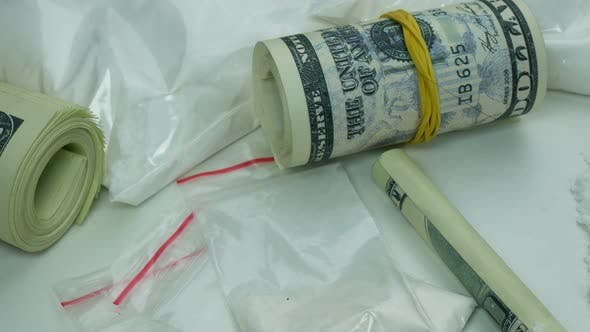 Thumbnail for Dirty Drug Cartel Money From The Sale Of Cocaine And Tablets