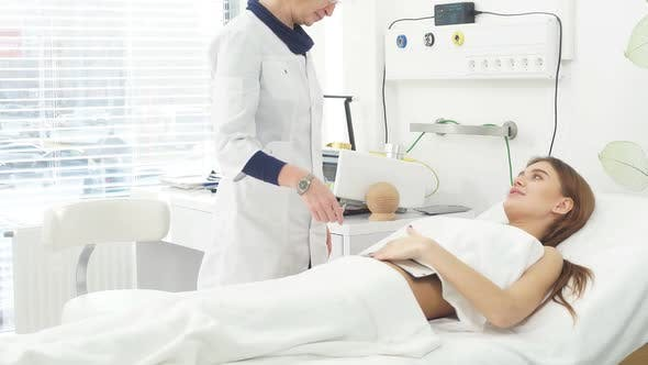 Thumbnail for Professional Doctor and Patient Together in Hospital Room