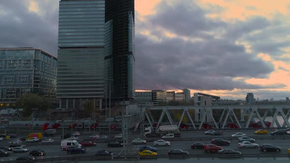 Thumbnail for Business Center Moscow City. Aerial, Dron Shoot.