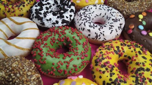Assorted Donuts Icing
