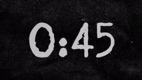 1 Minute Grunge Countdown In 4k