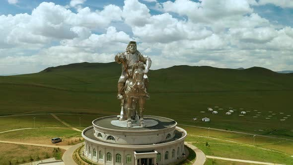 Thumbnail for Genghis Khan Monument at Zonjin Boldog Mongolia. Aerial View