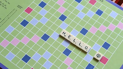 Hello Scrabble Board Game Message