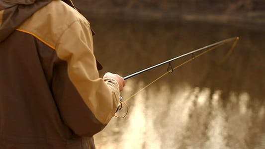 Thumbnail for Spin Fishing And River Water Bokeh