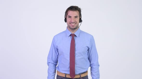 Thumbnail for Young Happy Hispanic Businessman As Call Center Representative