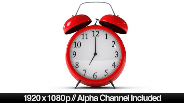 Thumbnail for Classic Red Alarm Clock Ringing With Alpha Channel