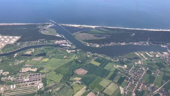 Thumbnail for Take off from Gdansk airport flying along the coast