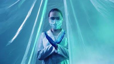 Pandemic Restriction Quarantine Zone Scientist
