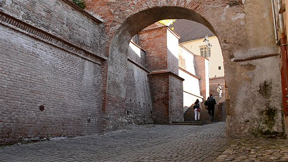 Thumbnail for Old Medieval Stairs Passage