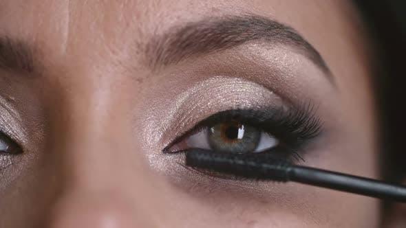 Thumbnail for Closeup of Professional Eye Makeup