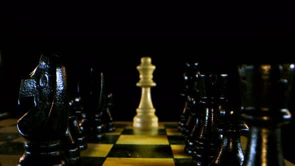 Strategy Game Chess Board And Wooden Stones 1
