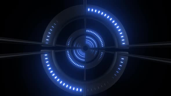 4k Colored Radial Neon Tunnel Loops Pack