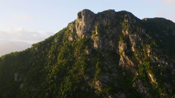Thumbnail for Fly up Over Lion Rock Mountain in Hong Kong