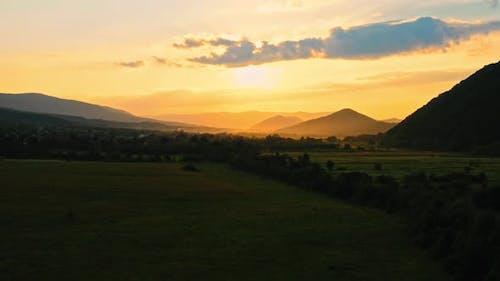 Panorama Sundown in Highlands