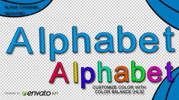 Cartoon Alphanumeric Characters