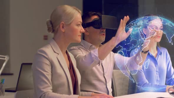 Cover Image for Business Team Working with Virtual Reality Headset 2