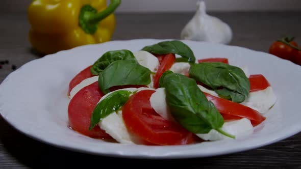 Thumbnail for Caprese Salad Dish With Tomatoes And Mozzarella Cheese