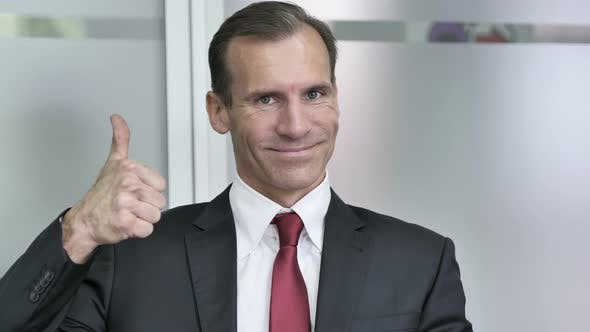 Cover Image for Thumbs Up by Businessman