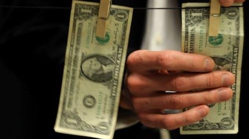 Businessman Laundering Dirty Money