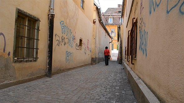 Thumbnail for Paved Alley Between Houses