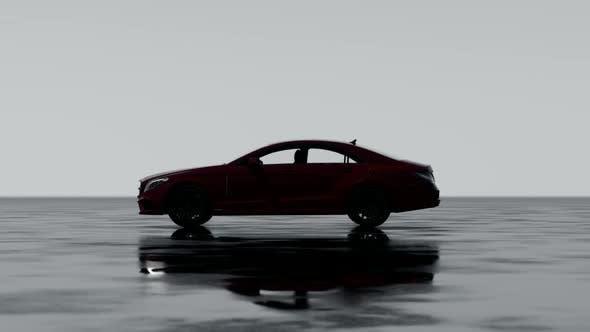 Thumbnail for Luxury Car on Wet Asphalt