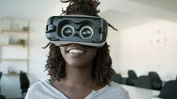 Thumbnail for Smiling African American User with VR Headset