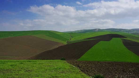 Thumbnail for Agriculture Fields on Hills in Morocco, Timelapse