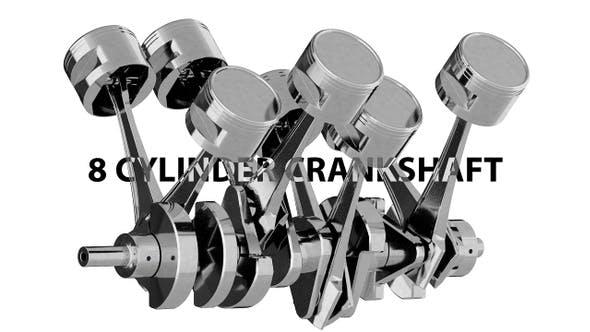 Thumbnail for 8 Cylinder V8 Crankshaft
