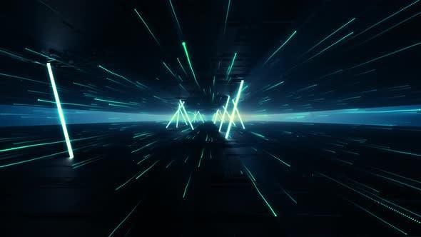 Lights Neon Line 4K