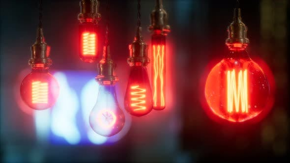 Thumbnail for Old Retro Vintage Incandescent Light Bulb