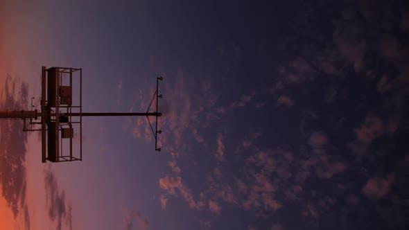Jet Landing At Sunset