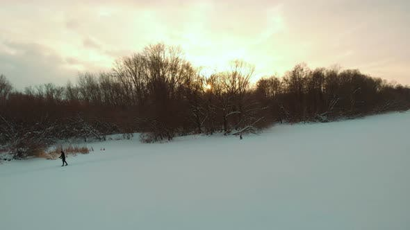 Thumbnail for Sunset At The Frozen River