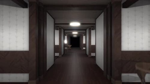 3D background of designed endless hall with optical illusion effect