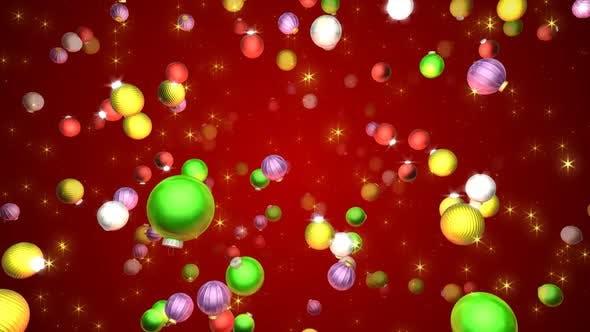 Thumbnail for Christmas Balls Background Hd