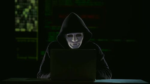 Male Hacker Making Fatal Mistake and His Personal Data Is Declassified Failure