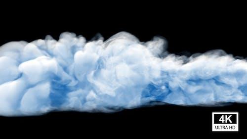 Blue Tone Smoke Slow Motion 4K