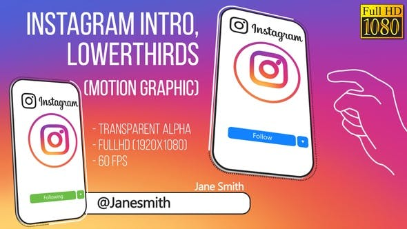 Thumbnail for Instagram Intro and Lowerthird (FullHD)