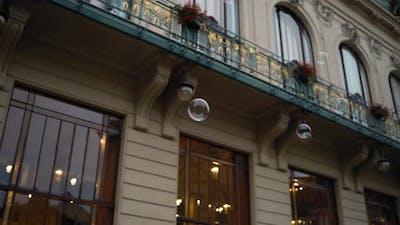 Soap Bubbles on the European Street