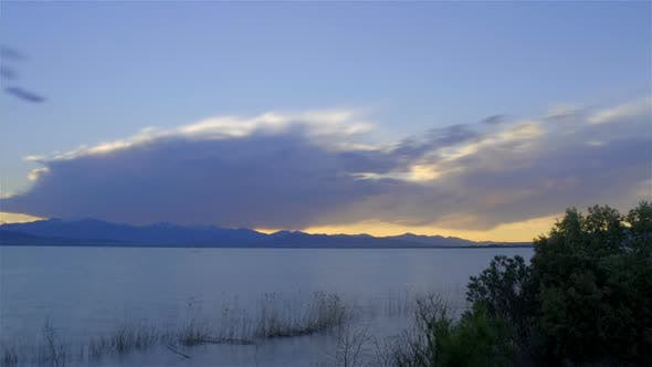 Sunset Utah Lake time-lapse.