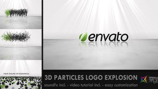 Thumbnail for 3D Particles Logo Explosion