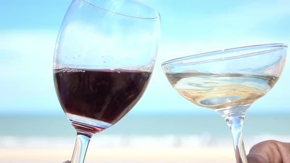 Cover Image for Wine Drinking On The Beach