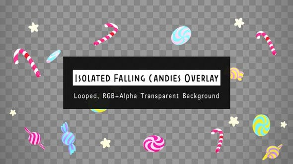 Isolated Falling Candies Overlay