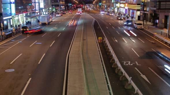 Cover Image for Japanese Highway Traffic Lane Car Stream Timelapse