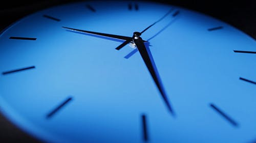 Blue Clock Real Time