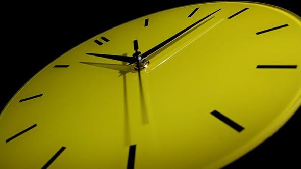 Horloge jaune Laps de temps