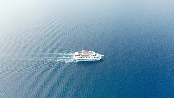 Thumbnail for Drone Video Aerial Video of Ferry Ship in Adriatic Sea - Croatia