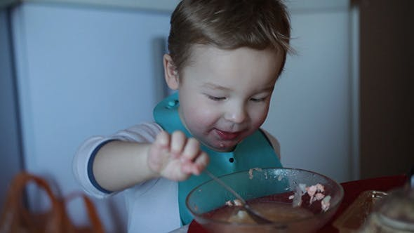 Thumbnail for Two Year Old Boy Eats Fish Soup 2