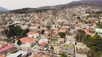 Aerial View Mtskheta Neighborhood Houses