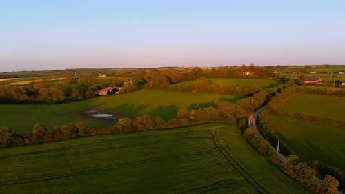 Beautiful farmland on a sunny day