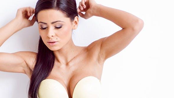Thumbnail for Full Body Slide of Sexy Brunette